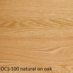 OCS 100 natural finish on oak