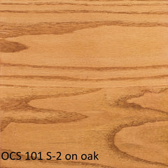 OCS 101 S-2 finish shown on oak
