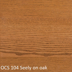 OCS 104 Seely finish shown on oak