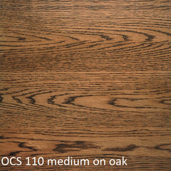 OCS 110 medium finish shown on oak