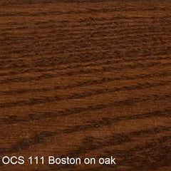 OCS 111 Boston finish shown on oak