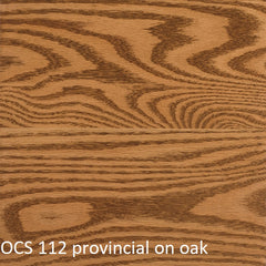 OCS 112 provincial finish shown on oak