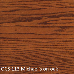 OCS 113 Michael's finish shown on oak