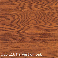 OCS 116 harvest finish shown on oak