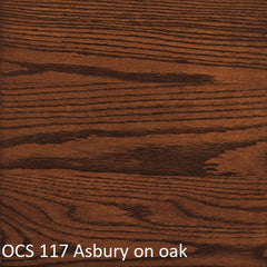 OCS 117 Asbury finish shown on oak