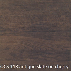 OCS 118 antique slate finish shown on cherry