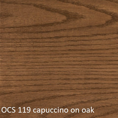 OCS 119 capuccino finish shown on oak