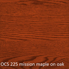 OCS 225 mission maple finish shown on oak
