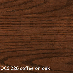 OCS 226 coffee finish shown on oak
