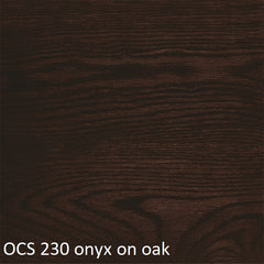 OCS 230 onyx finish shown on oak