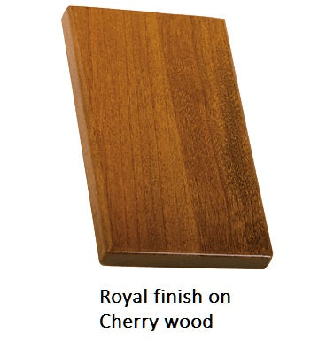 Royal finish on Cherry wood
