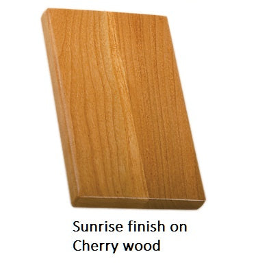 Sunrise finish on Cherry wood