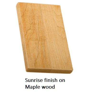 Sunrise finish on Maple wood