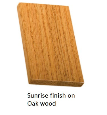 Sunrise finish on Oak wood
