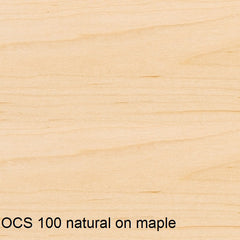 OCS 100 natural finish shown on maple