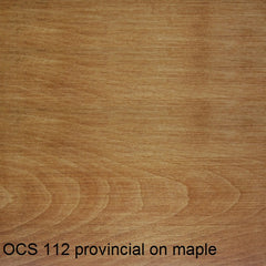 OCS 112 provincial finish shown on maple