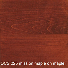 OCS 225 mission maple finish shown on maple