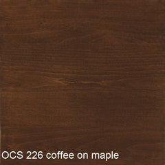 OCS 226 coffee finish shown on maple