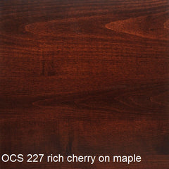OCS 227 rich cherry finish shown on maple