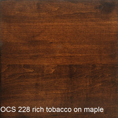 OCS 228 rich tobacco finish shown on maple