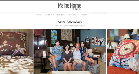 Endicott Home Furnishings featured in October 2016 Maine Home + Design Shop Talk