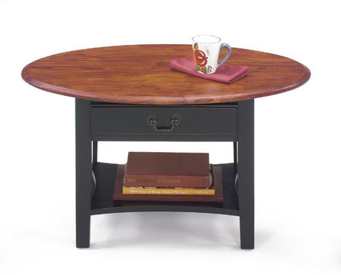 Belgrade Mini Oval Cocktail Table  - Two Tone, Default Title, Occasional Tables - Endicott Home Furnishings