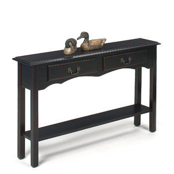 Belgrade Extra Large Console Table - Distressed Black, , Occasional Tables - Endicott Home Furnishings