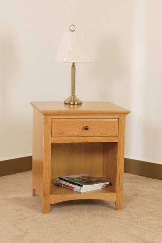 Raes Salem Hardwood 1 Drawer Open Nightstand