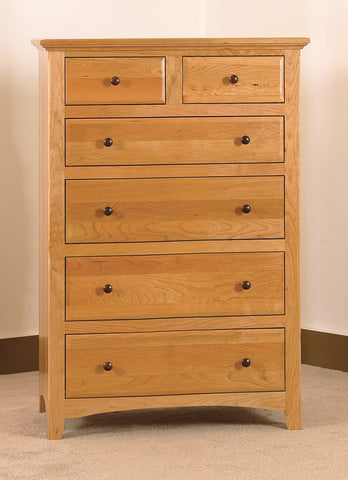 "Raes Hardwood 6 Drawer Chest - 33"" Wide Dresser"