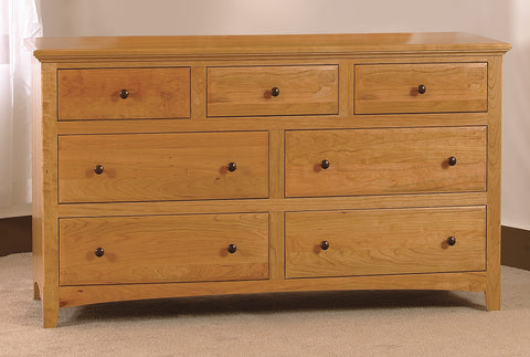 "Raes Hardwood 7 Drawer 52"" Wide Dresser"