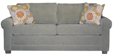 "Tailor Made Sock Arm 2-cushion 82"" Queen Sleeper Sofa from Endicott Home Furnishings - 01"