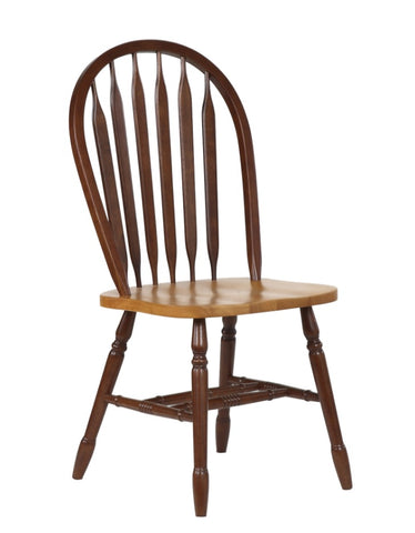 Nutmeg and Light Oak finished Dining Side Chair - Clearance