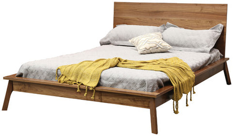 Charles River Solid Hardwood Mid-Century Modern Style Bed