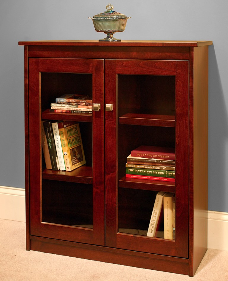 Candler 40 Tall Bookcase With Full Length Glass Doors