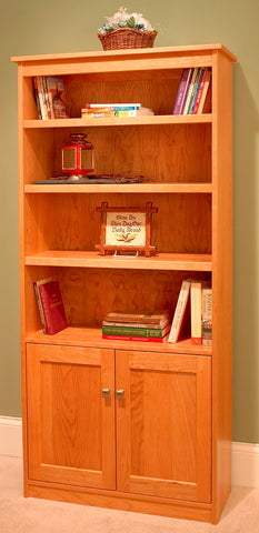"Candler 80"" tall bookcase with doors"