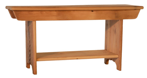 Rustic barn board bench from Endicott Home Furnishings - 01
