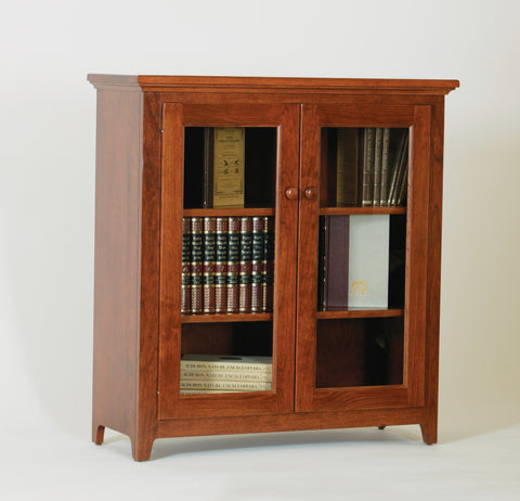 Doughty Ridge Bookcase with full length glass doors, ,  - Endicott Home Furnishings