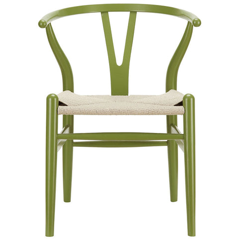 Classic Mid-Century Modern-inspired Dining Armchair -  Green Finish. This is a lightweight, but strong and attractive chair ideal for smaller spaces 1