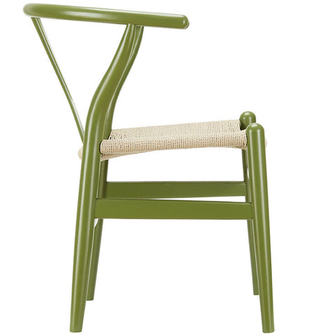 Classic Mid-Century Modern-inspired Dining Armchair -  Green Finish. This is a lightweight, but strong and attractive chair ideal for smaller spaces 2