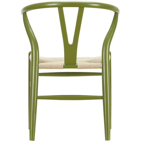 Classic Mid-Century Modern-inspired Dining Armchair -  Green Finish. This is a lightweight, but strong and attractive chair ideal for smaller spaces 3