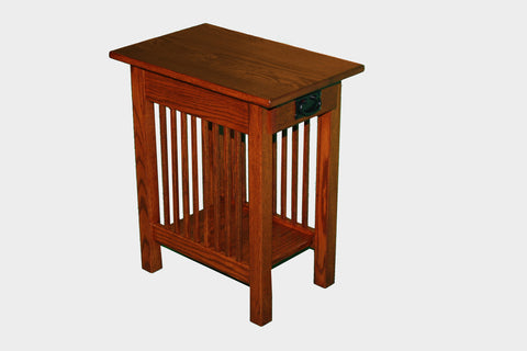 The Alamo Mission One Drawer Chairside Table Maple, , Occasional Table - Endicott Home Furnishings - 2