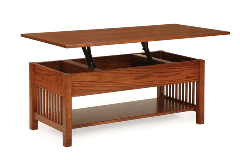 The Alamo Mission Lift Top Coffee Table, , Occasional Table - Endicott Home Furnishings - 1