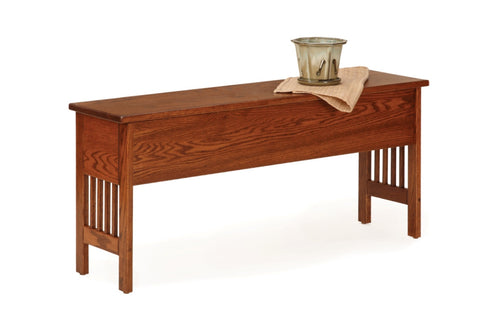 The Alamo Mission Backless Storage Bench, ,  - Endicott Home Furnishings