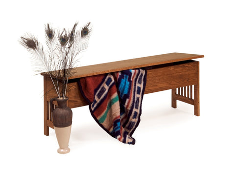 The Alamo Mission Larger Storage Bench, ,  - Endicott Home Furnishings