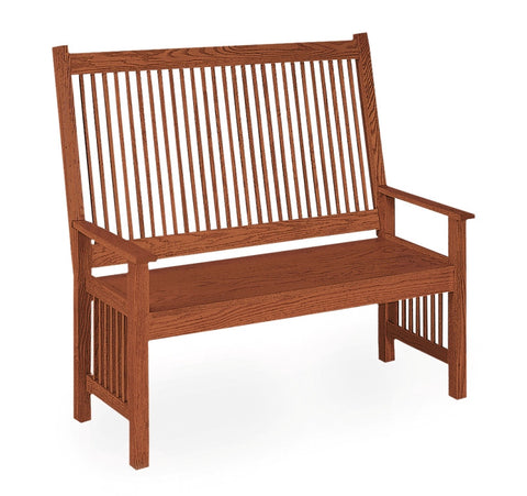 The Alamo Mission High Back Deacon Bench, ,  - Endicott Home Furnishings