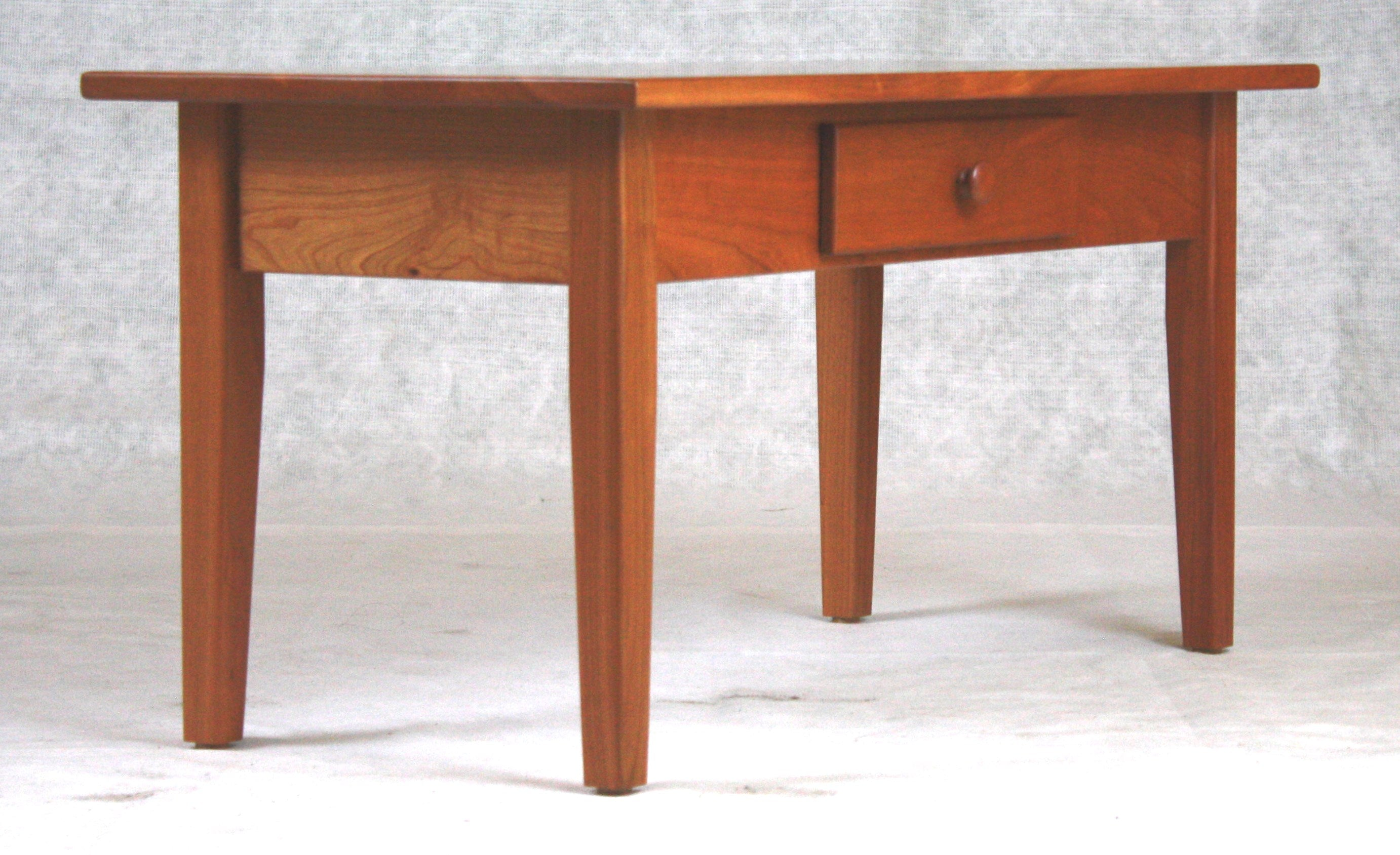 Cherry Coffee Table.Cherry Shaker Smaller Coffee Table With Drawer Showroom Models