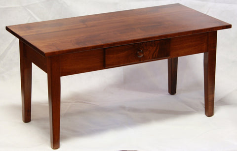 Smaller Maple Shaker Cocktail Table with Drawer - Showroom Model, , Showroom Models - Endicott Home Furnishings - 2