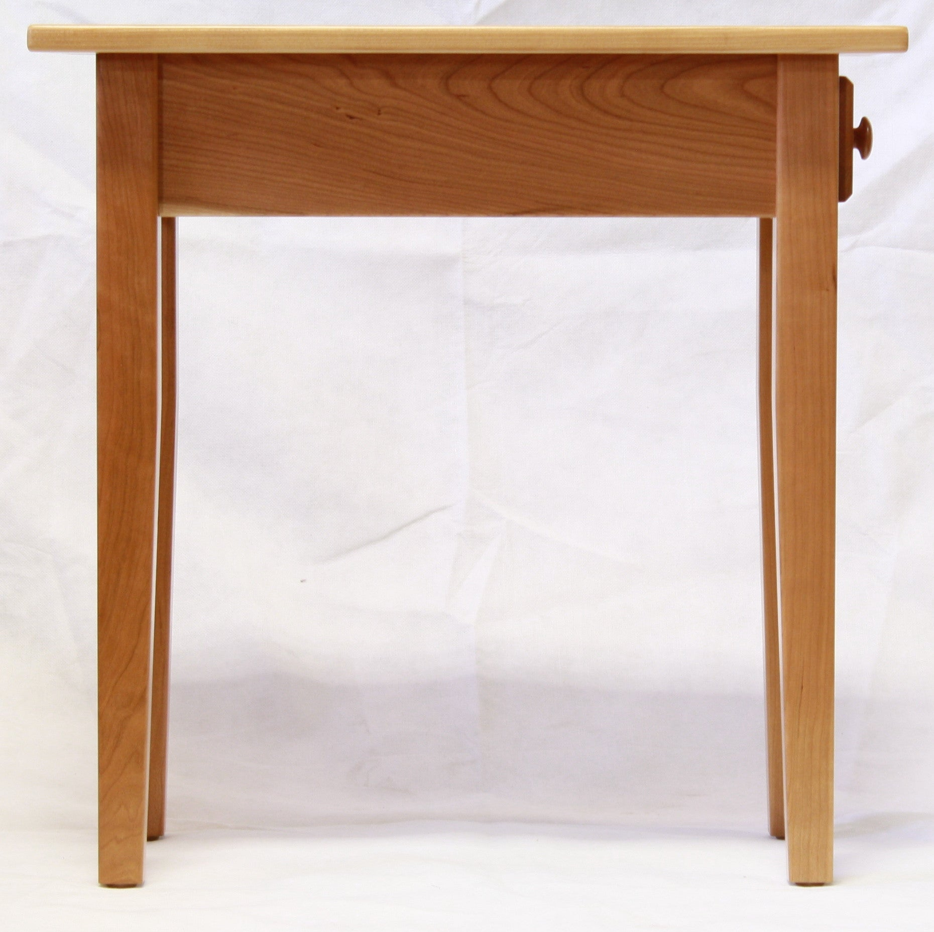... Narrow Cherry Shaker Chairside End Table With Drawer, , Occasional  Tables   Endicott Home Furnishings ...