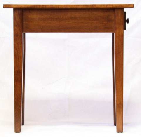 Narrow Maple Shaker Chairside End Table with Drawer  - 3