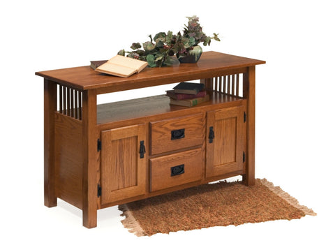 The Alamo Mission Two Door Entertainment Center, , Occasional Table - Endicott Home Furnishings